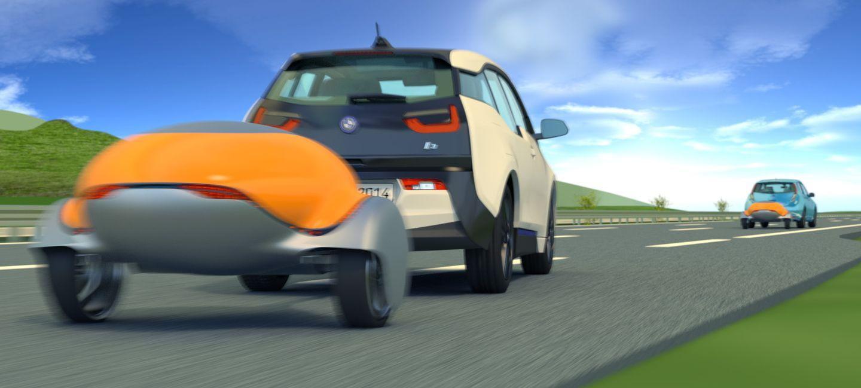 La solución a la autonomía limitada de tu eléctrico es… ¡una batería remolcable!