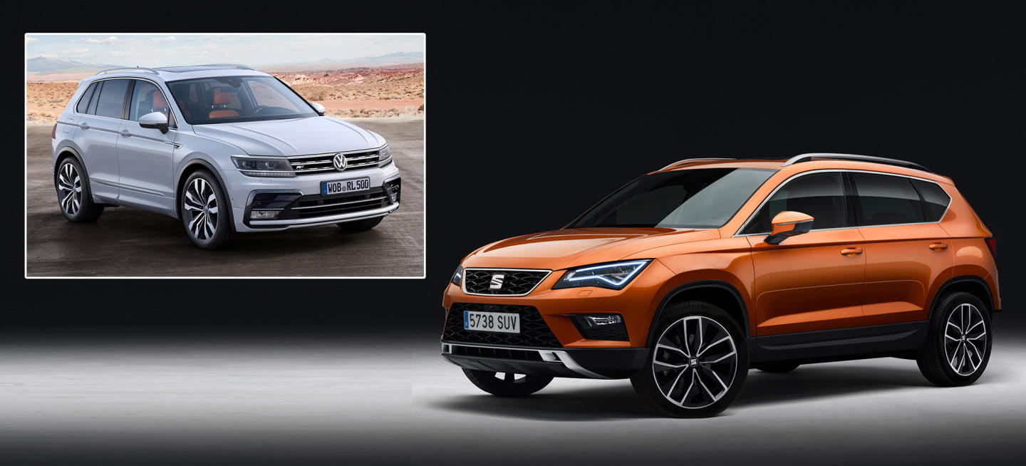 seat ateca vs volkswagen tiguan en 8 im genes son tan parecidos ateca y tiguan diariomotor. Black Bedroom Furniture Sets. Home Design Ideas