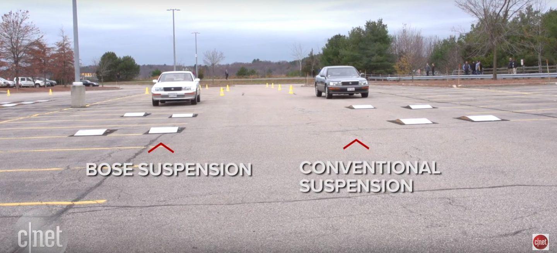 Así funcionaba la revolucionaria suspensión de Bose… ¡incluso era capaz de hacer al coche saltar!