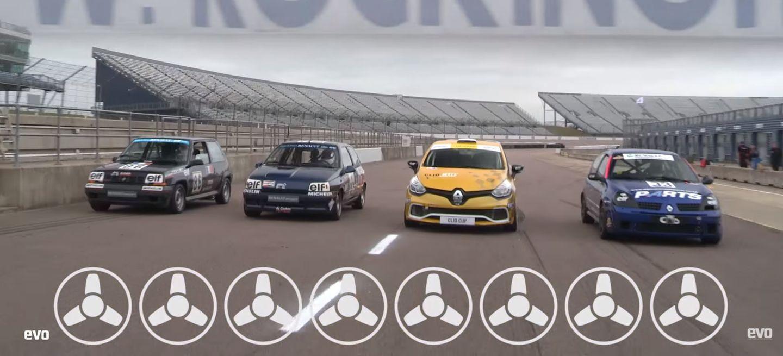 ¡Batalla fratricida en circuito! 30 años de utilitarios deportivos Renault, cara a cara. ¿Quién es más rápido?