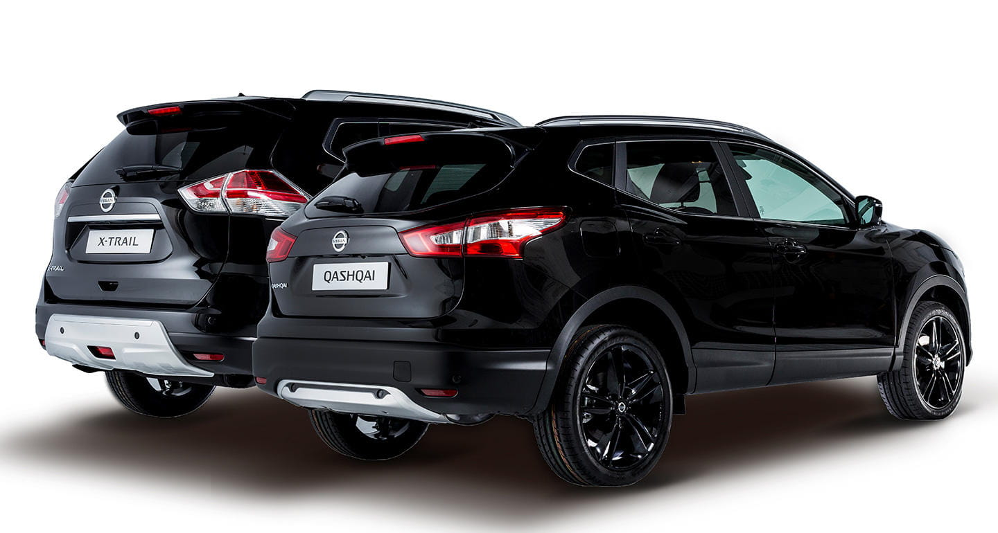 nissan qashqai y x trail black edition los crossover de nissan quieren ser premium diariomotor. Black Bedroom Furniture Sets. Home Design Ideas