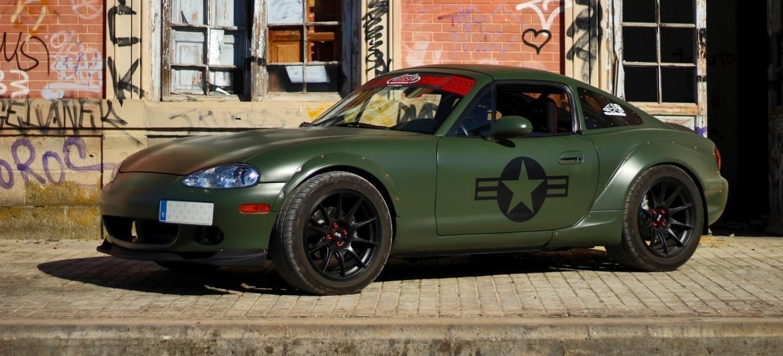 """Conocemos al Miata que se convirtió en un """"muscle car ..."""