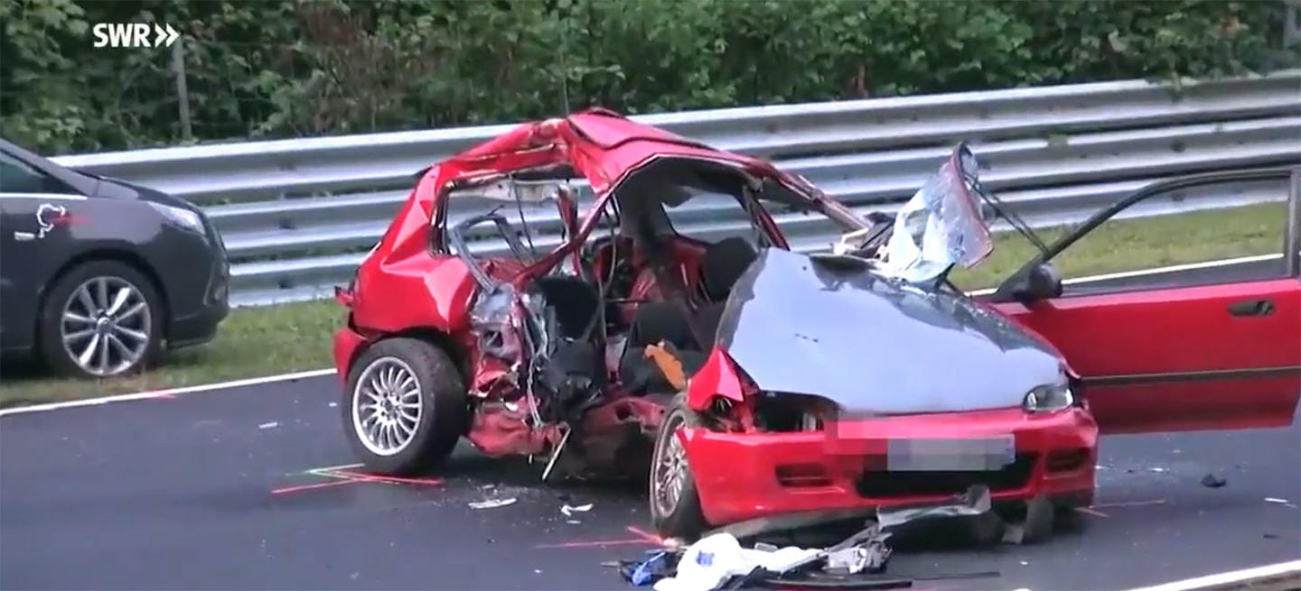 Fatalidad En N 252 Rburgring Un Accidente De Un Honda Civic