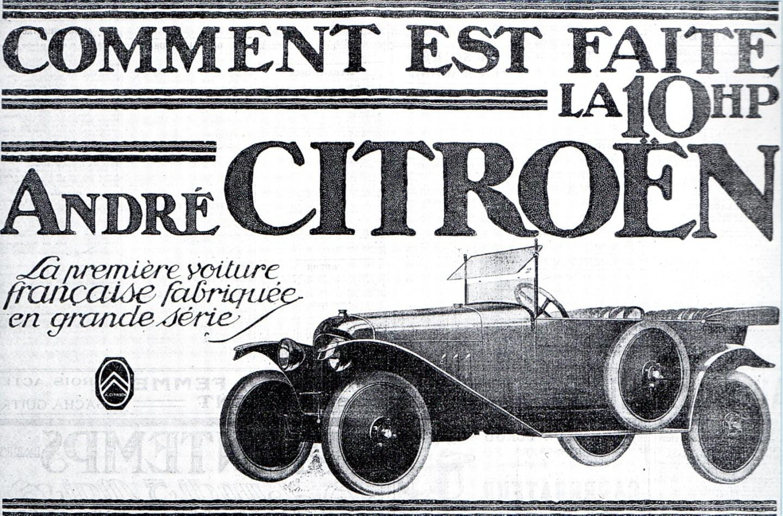 Publicidad Citroën Type A