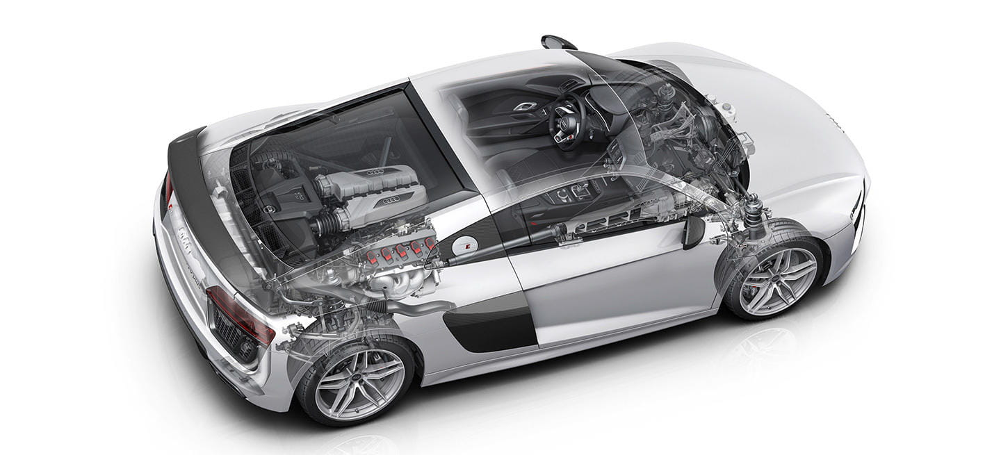 audi r8 and motor - photo #9