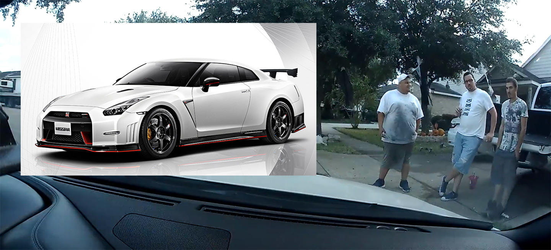 """Vídeo: un operario de grúa es cazado """"paseándose"""" con el Nissan GT-R de un cliente"""
