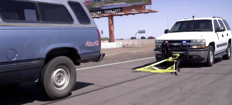 """Vídeo: Grappler, o cómo """"echar un lazo"""" a las ruedas de los malos para detenerlos"""