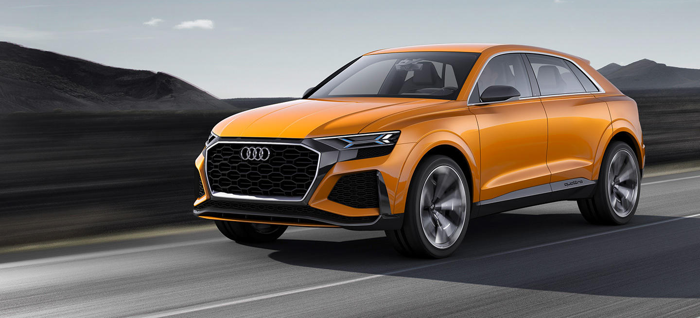 el audi q8 sport concept llega al sal n de ginebra con motor v6 turbo el ctrico y 476 cv de. Black Bedroom Furniture Sets. Home Design Ideas