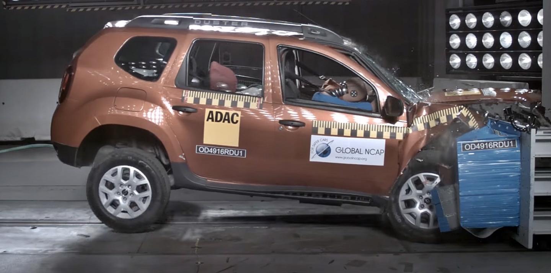 GlobalNCAP evalúa al Dacia Duster más básico y lo puntúa con 0 estrellas
