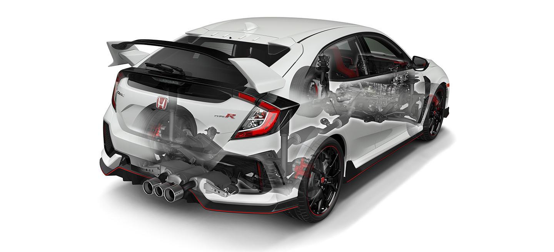 ¿Para qué sirve la tercera salida de escape del Honda Civic Type-R? Su función te va a gustar