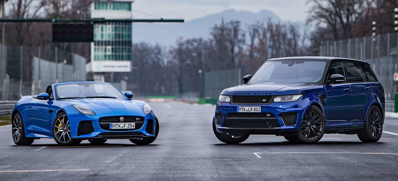 Range Rover Sport SVR y Jaguar F-Type