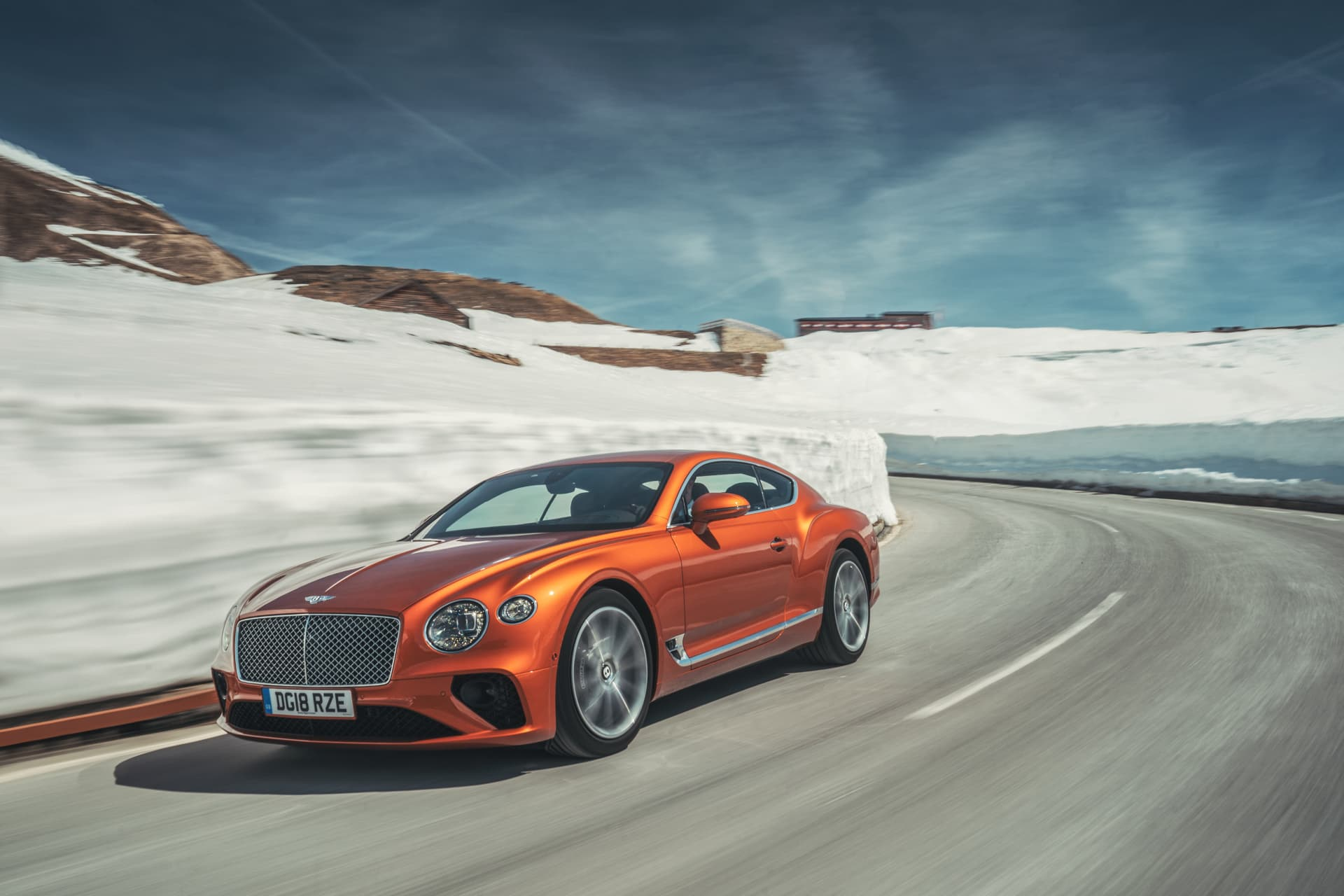 Bentley Continental Gt Orange Flame 1