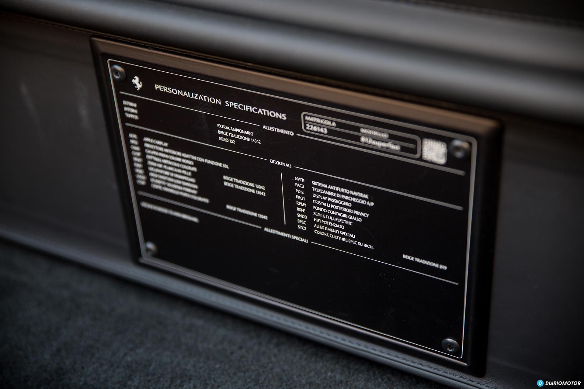 Ferrari 812 Superfast Interior 00016