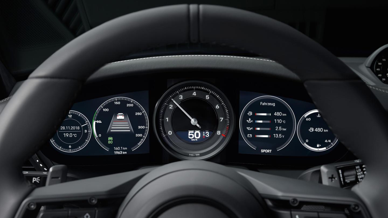 Porsche 911 2019 992 Cuadro Instrumentos Digital