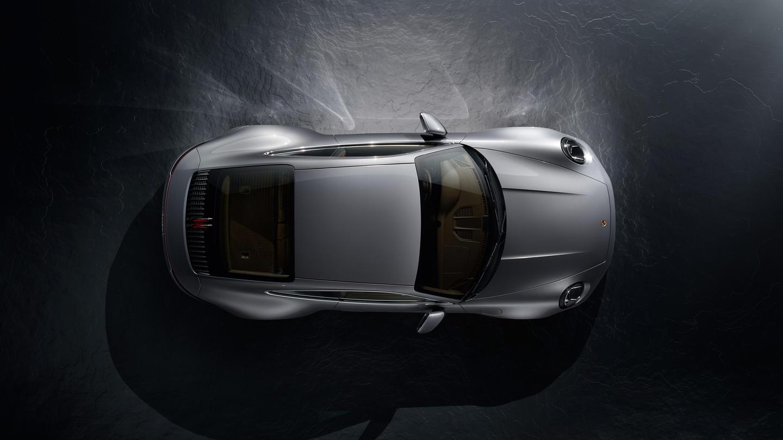 Porsche 911 2019 992 Vista Zenital