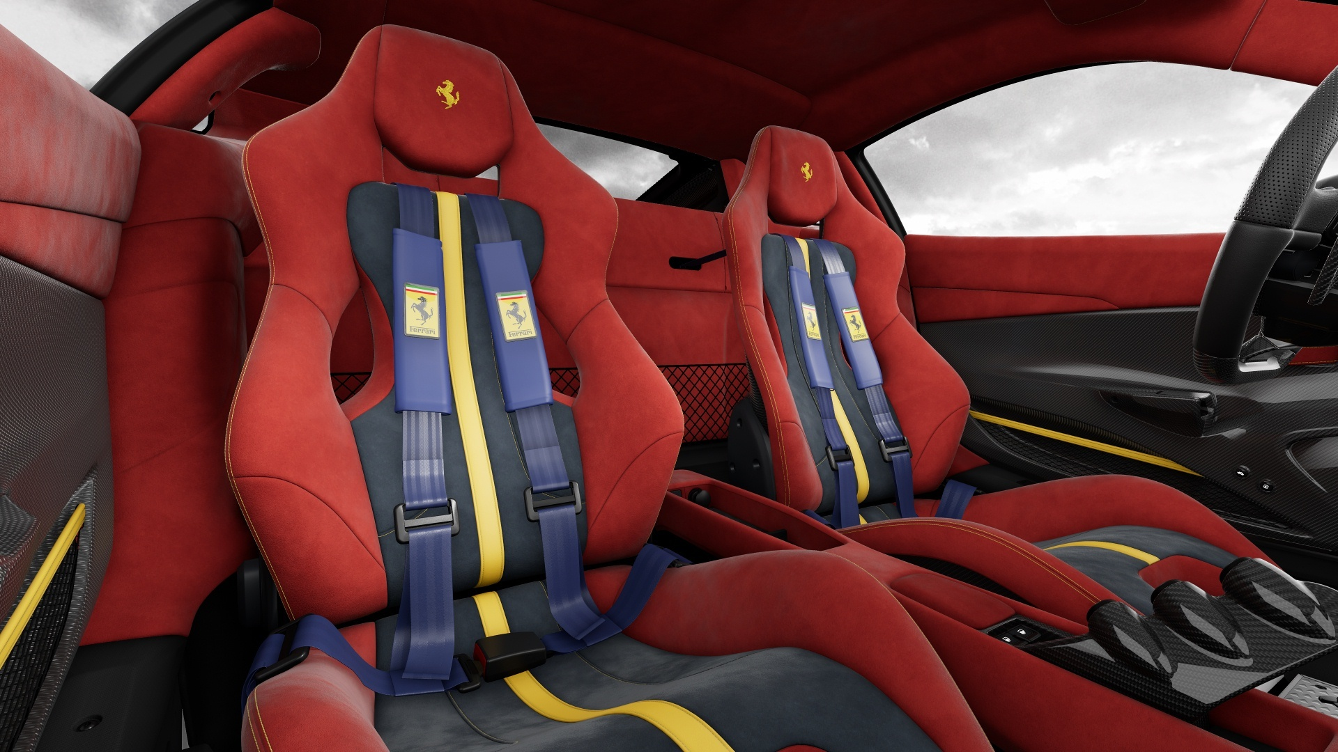 Configurador Ferrari 488 Pista Interior 03