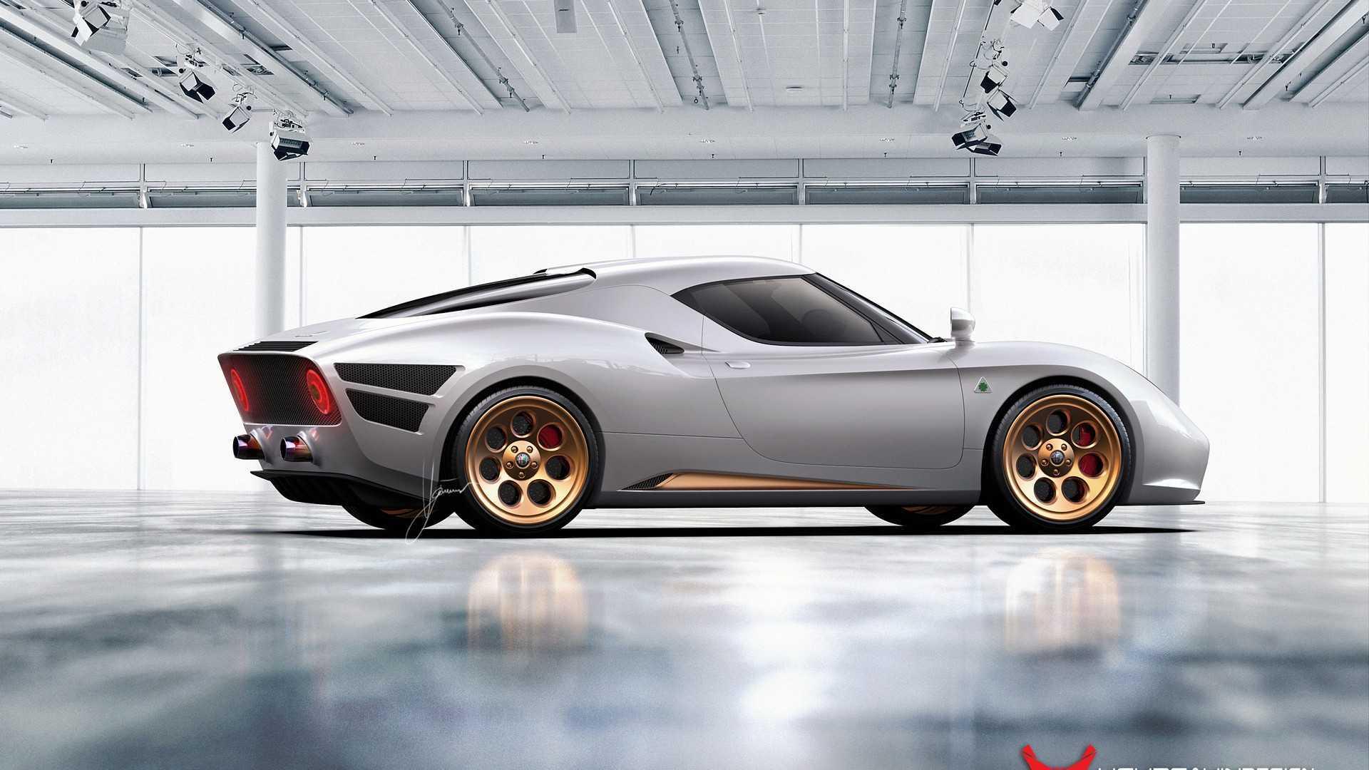 ¿Y si el Alfa Romeo 4C tuviera el diseño de un coche más clásico?