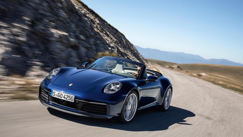 Porsche 911 Cabrio Cabriolet Frontal Movimiento 2