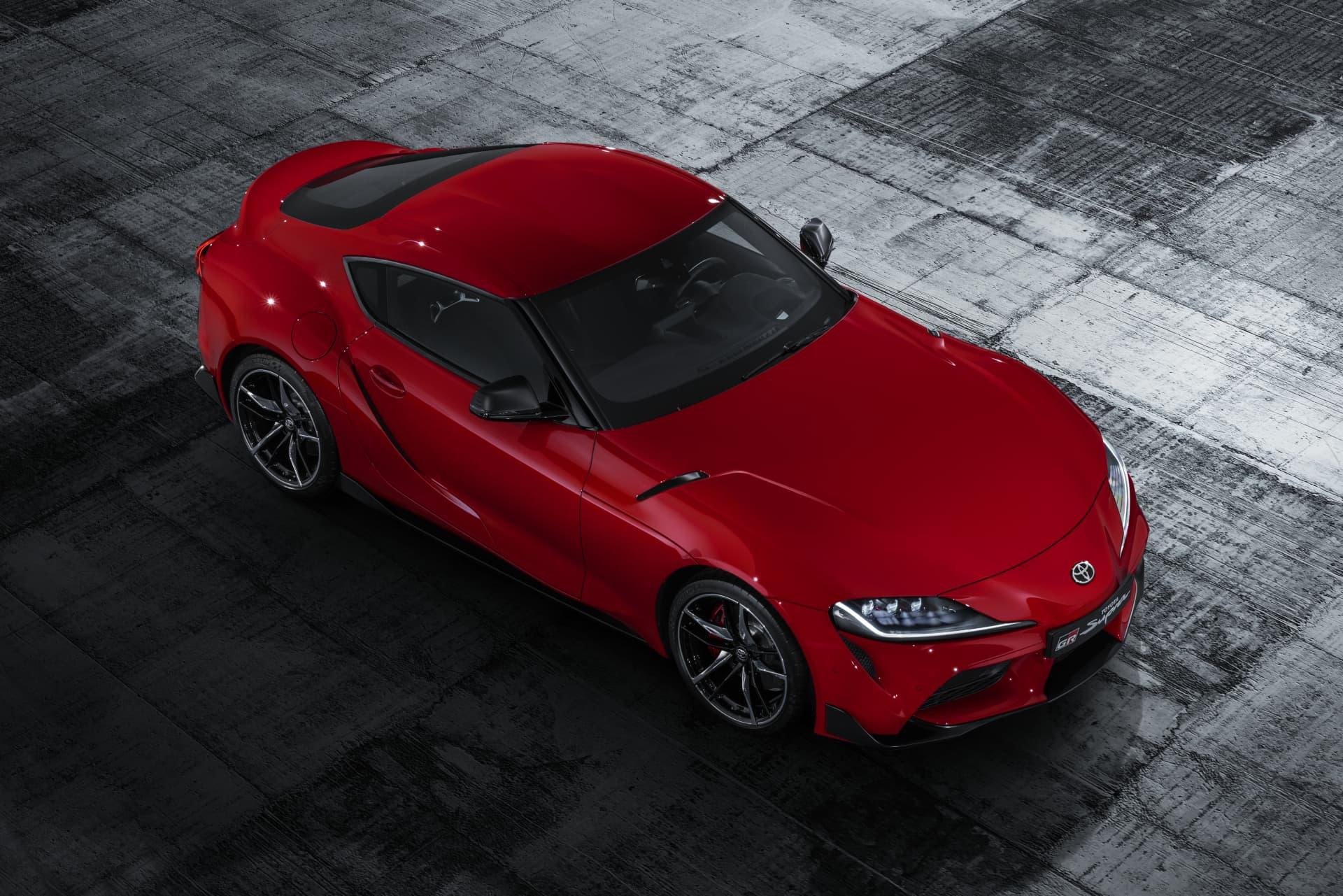 Todos Los Detalles Rojo Exterior Toyota Supra Red Studio 007 367305