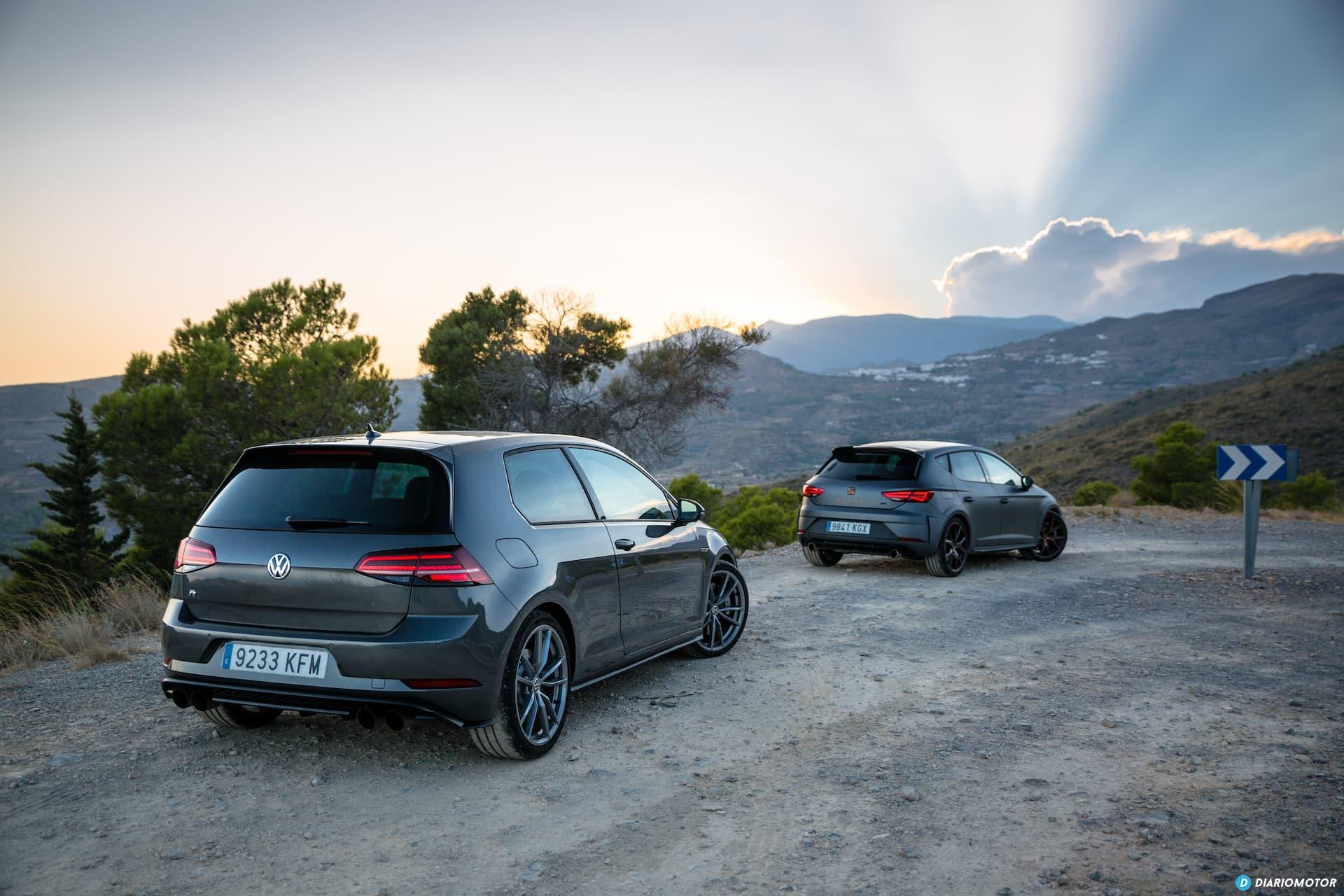Volkswagen Golf R Seat Leon Cupra R 63