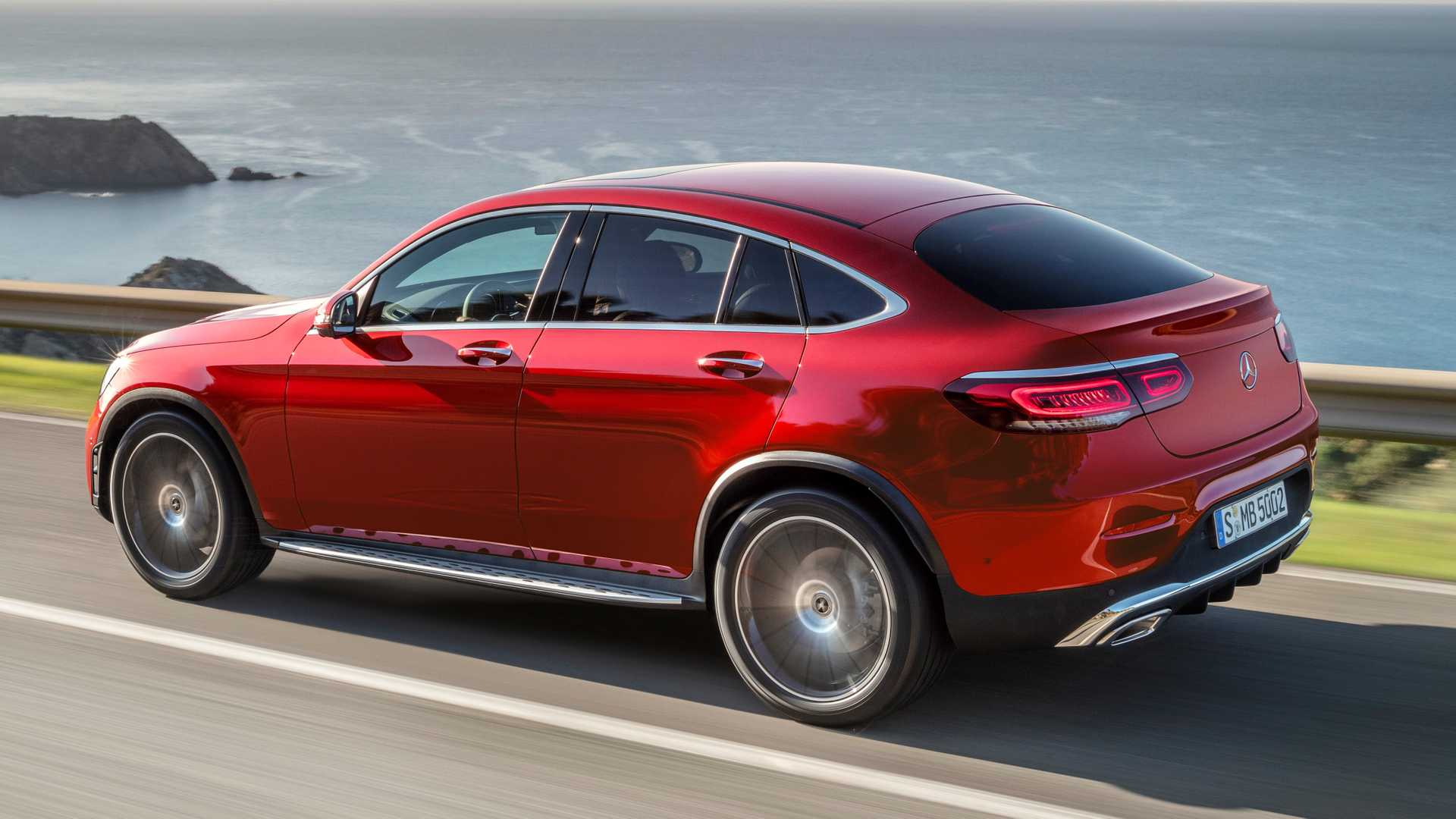 Mercedes Glc Coupe 2019 Rojo 013