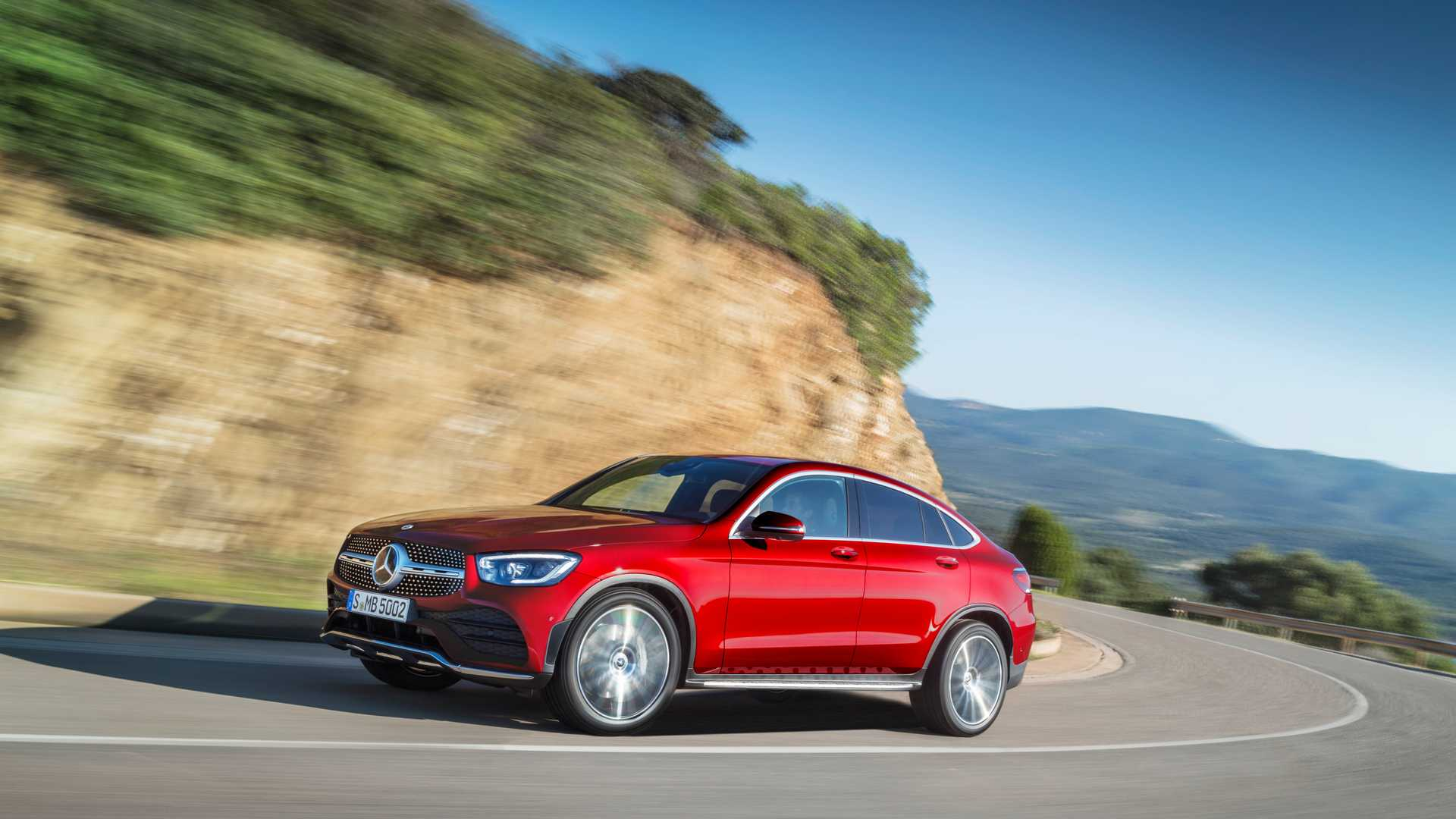 Mercedes Glc Coupe 2019 Rojo 022