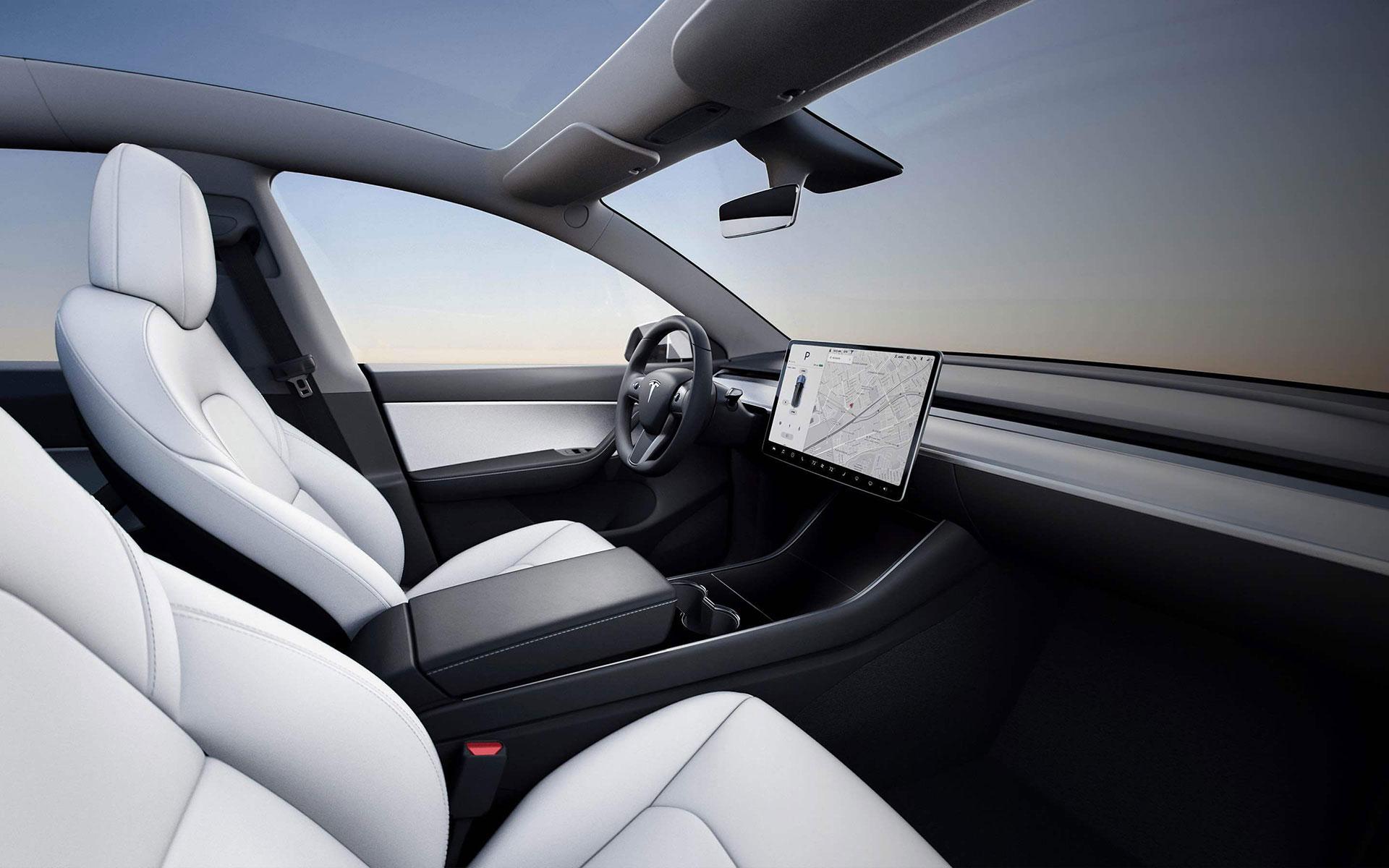 Tesla Model Y 2019 Interior Pantalla