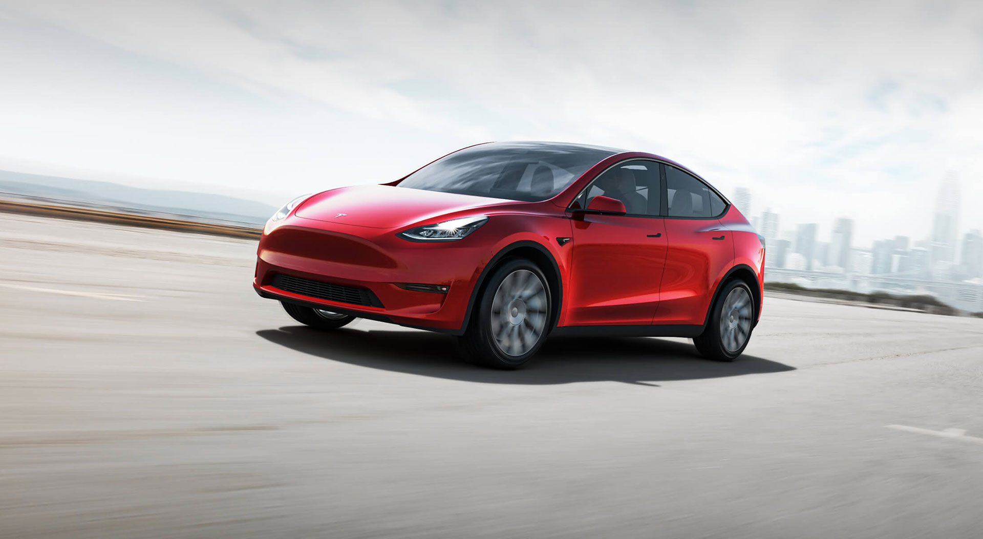 Tesla Model Y 2019 Rojo Frontal Exterior