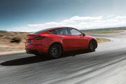 Tesla Model Y 2019 Rojo Trasera Exterior thumbnail