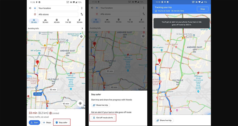 Google Maps Taxi