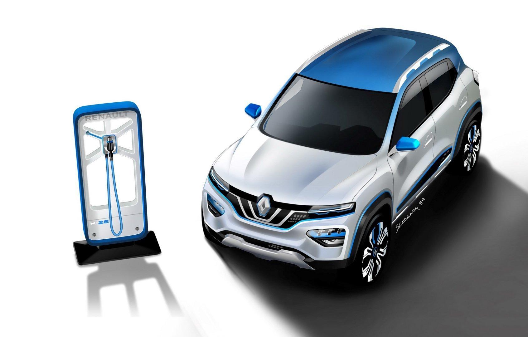 Dacia Coche Electrico Renault K Ze Cargador