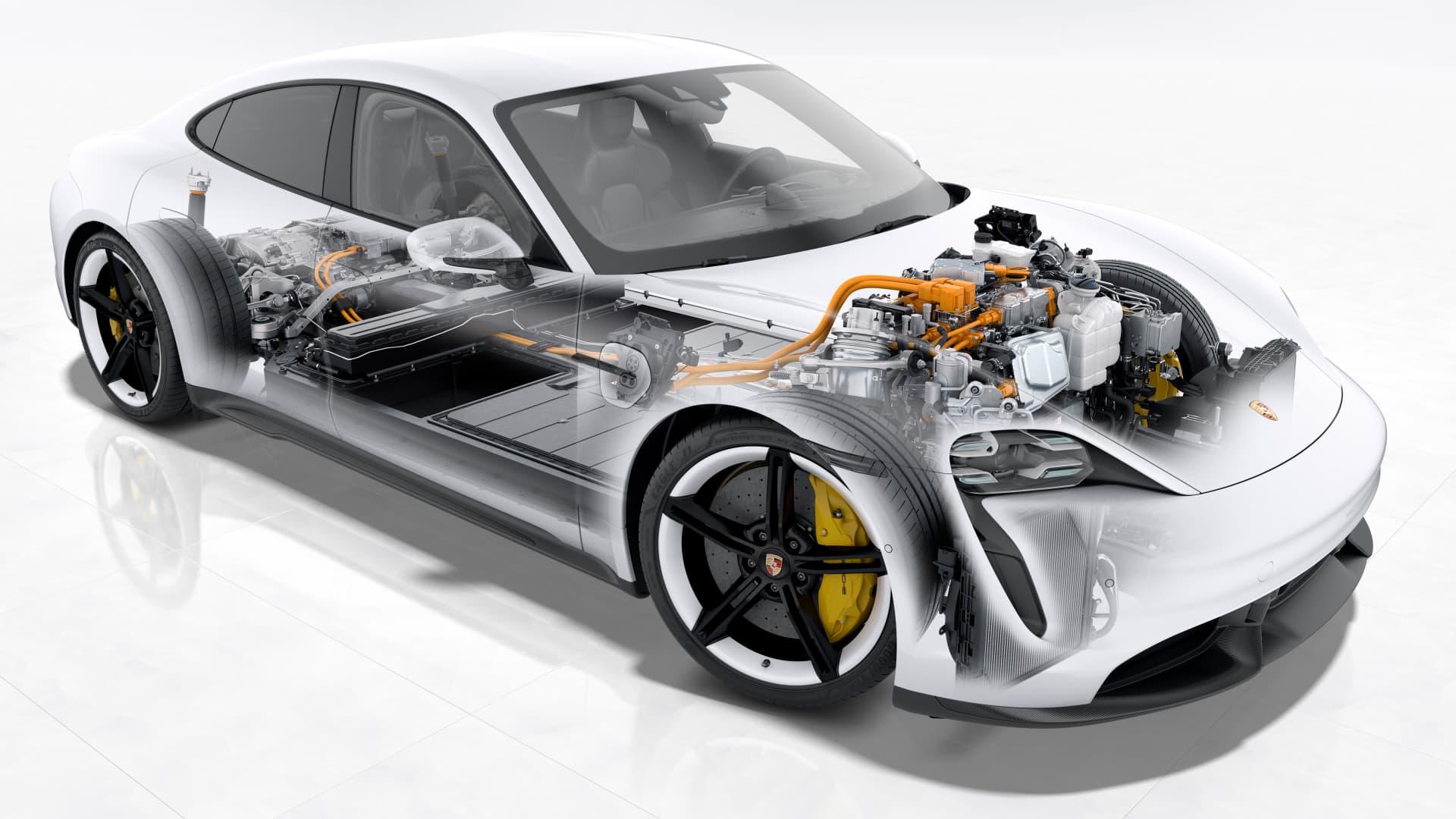 Cargar Coche Electrico Porsche Taycan Esquema Enectrico