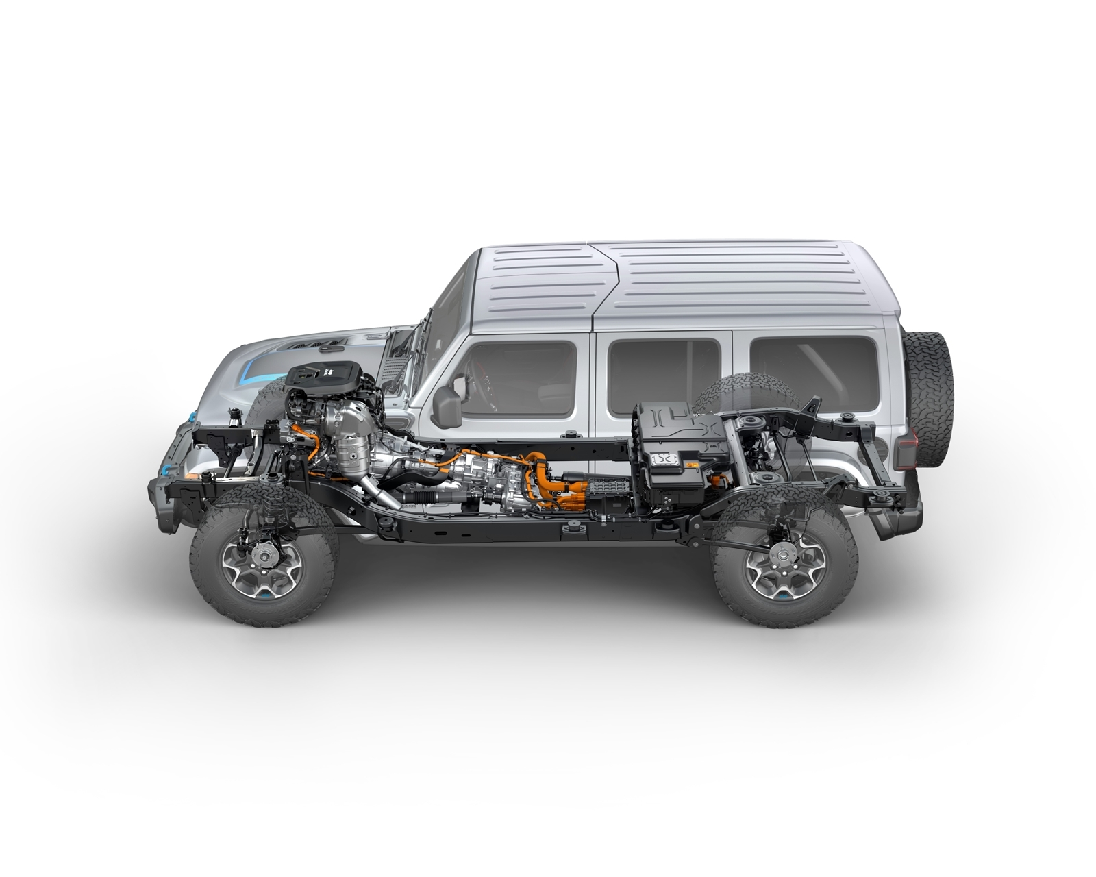 Side View Of The 2021 Jeep® Wrangler Rubicon 4xe Hybrid Electric