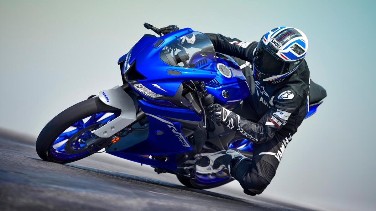 Moto 2021 Yamaha Yzf R125 Eu Icon Blue Action