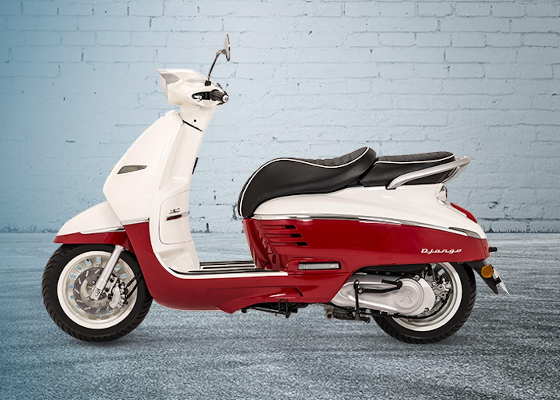 Moto Django Rojo Blanco