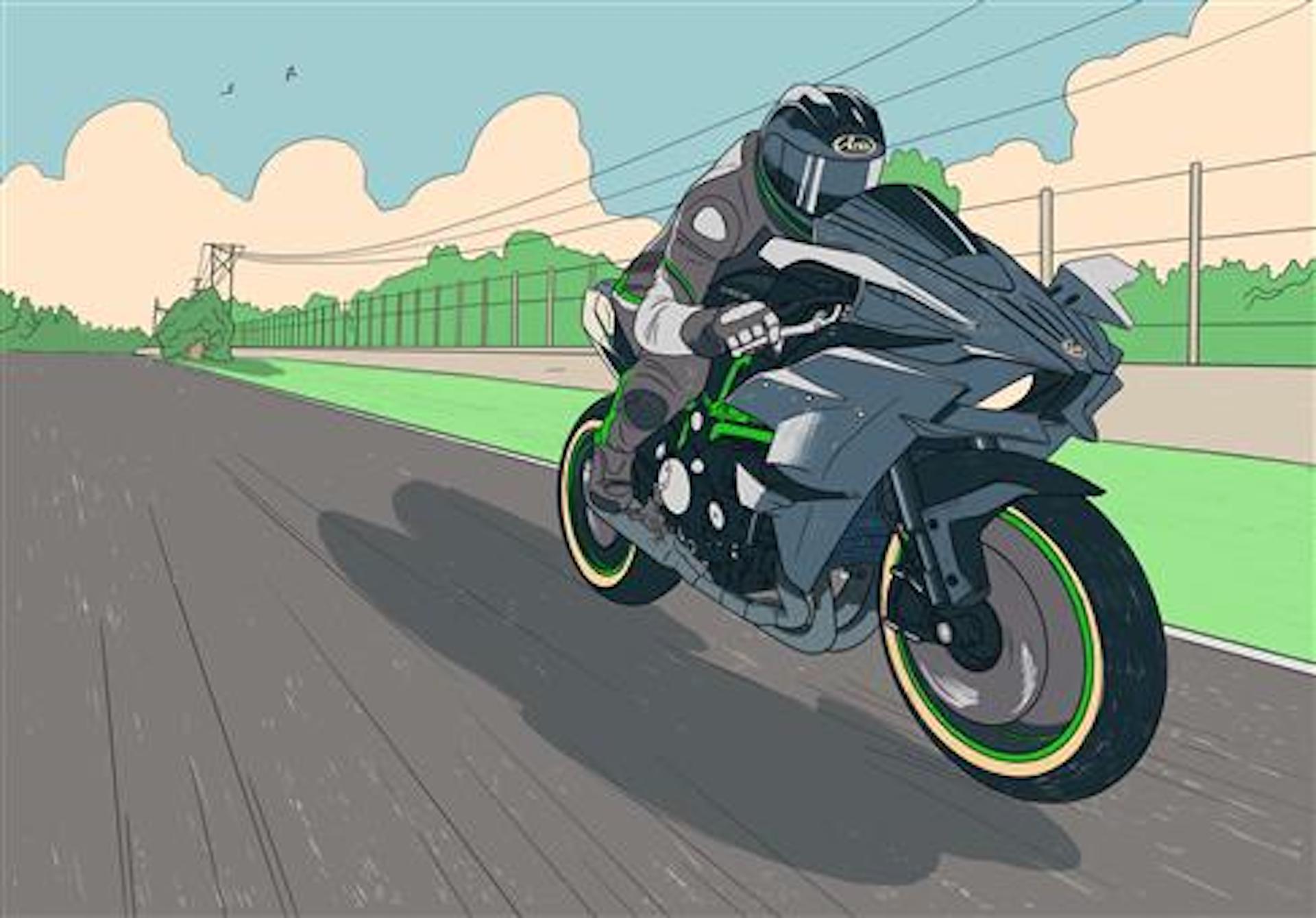 Moto Kawasaki Color