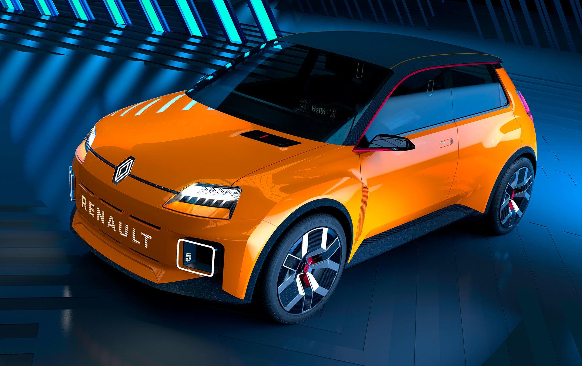 Nuevo Renault 5 Naranja Photoshop Frontal