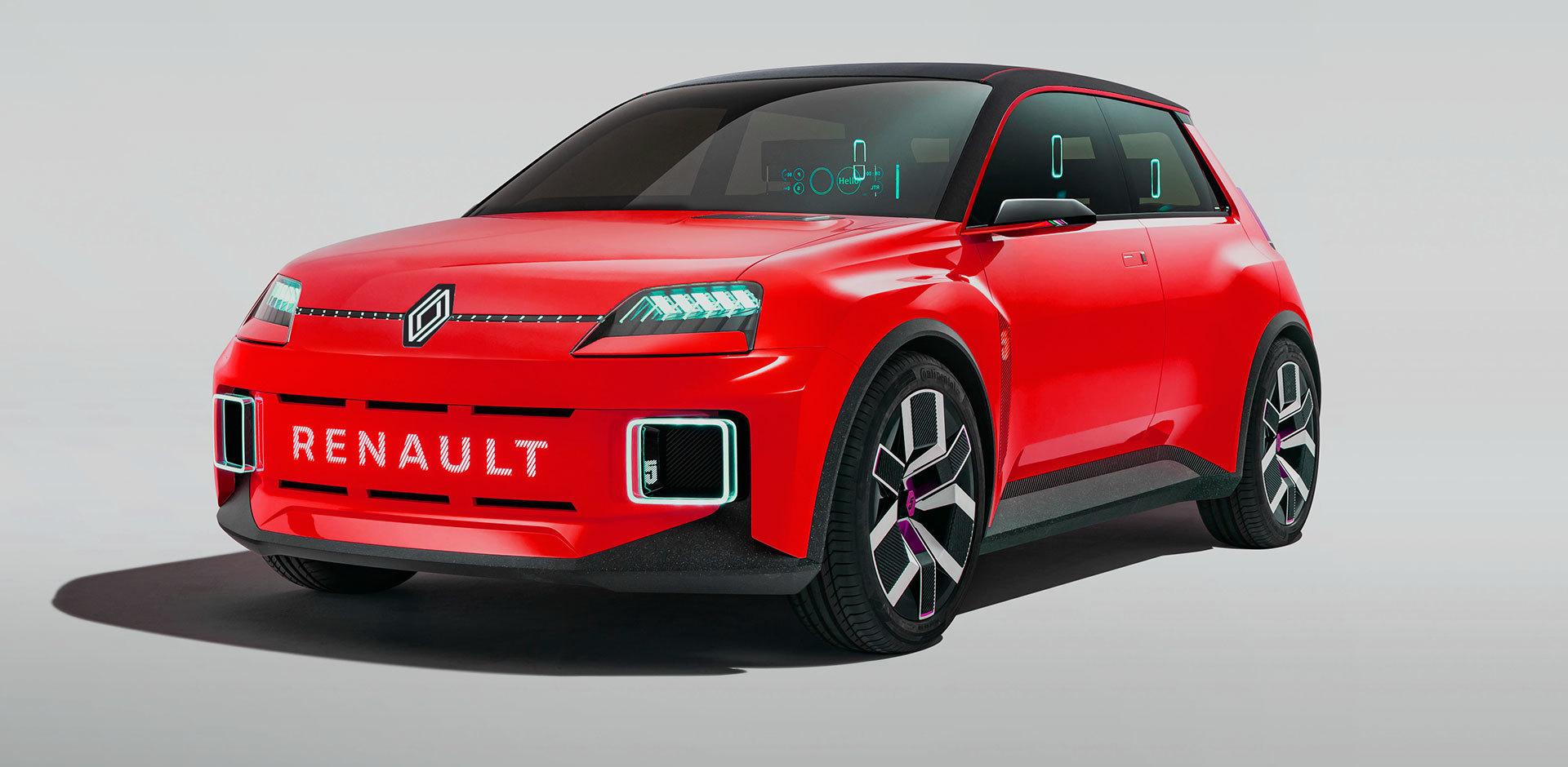 Nuevo Renault 5 Photoshop Rojo Frontal