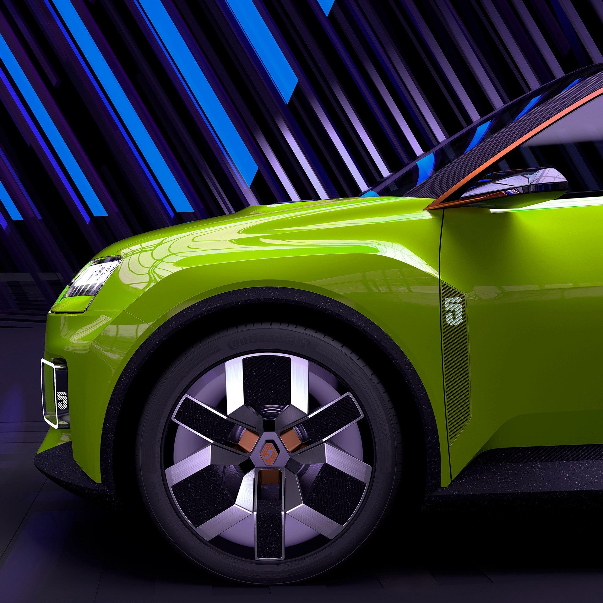 Nuevo Renault 5 Photoshop Verde Aleta