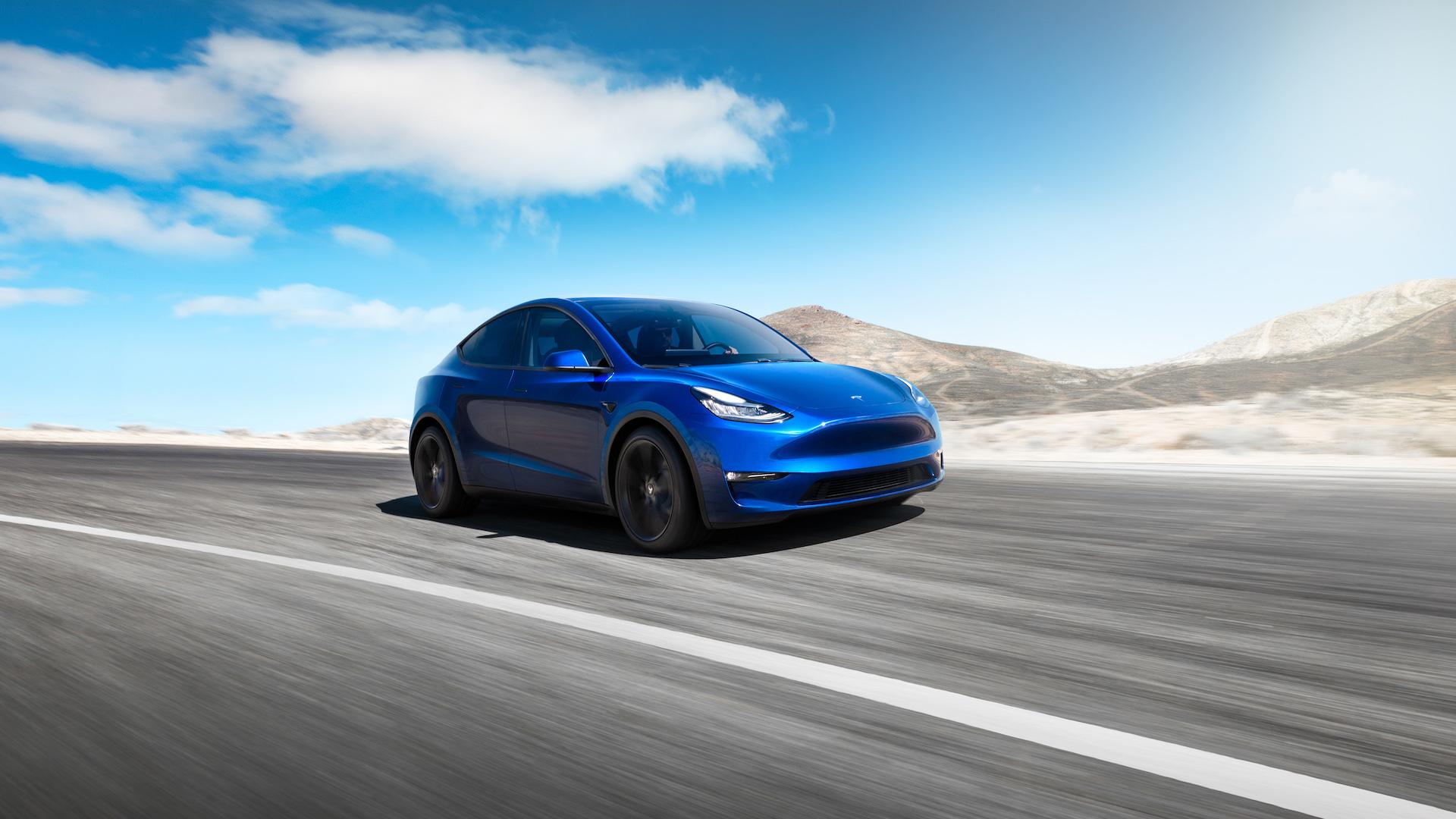 Tesla Model Y Azul 2021