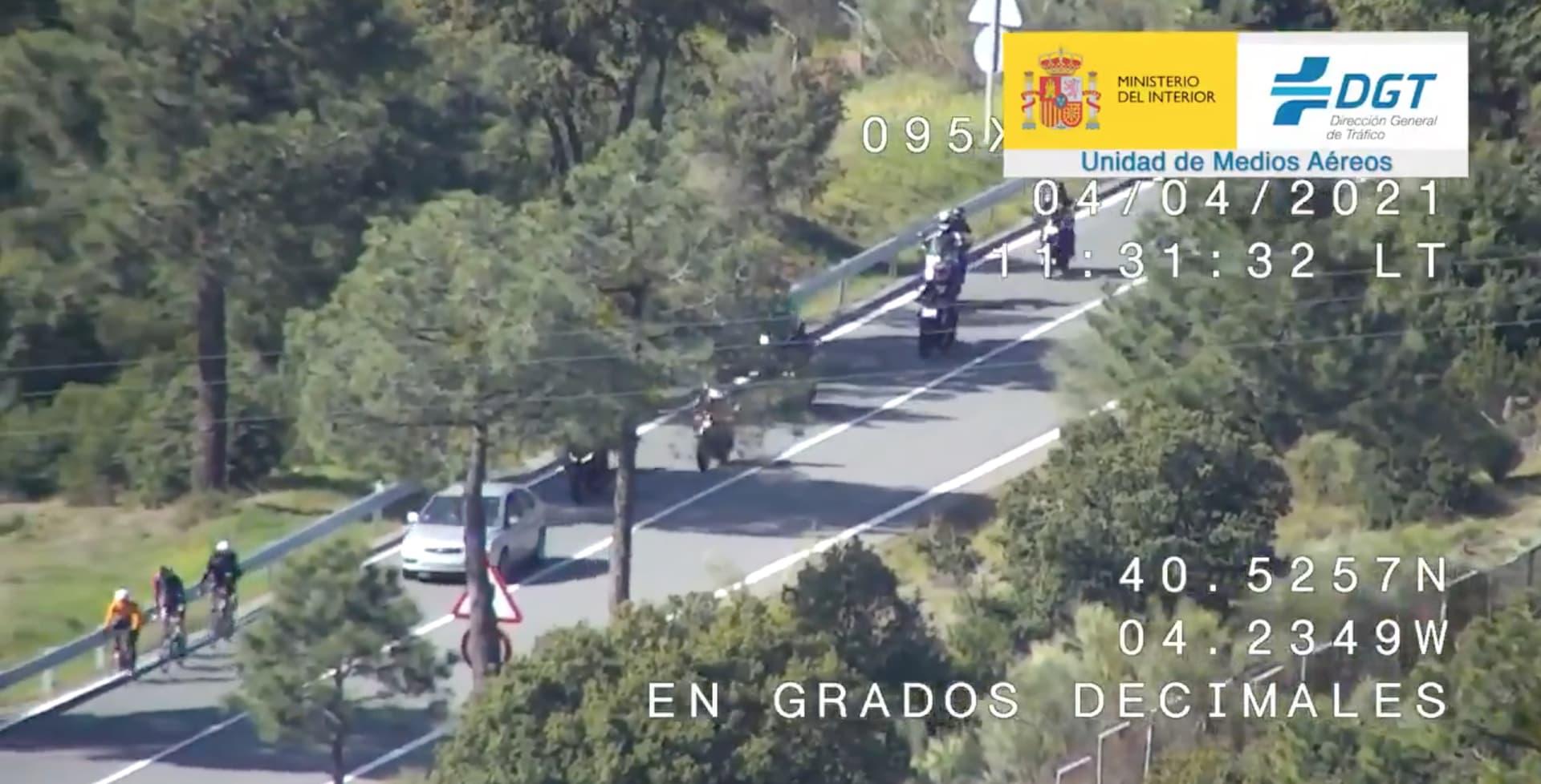 Adelantamiento Ciclistas Dgt Dron