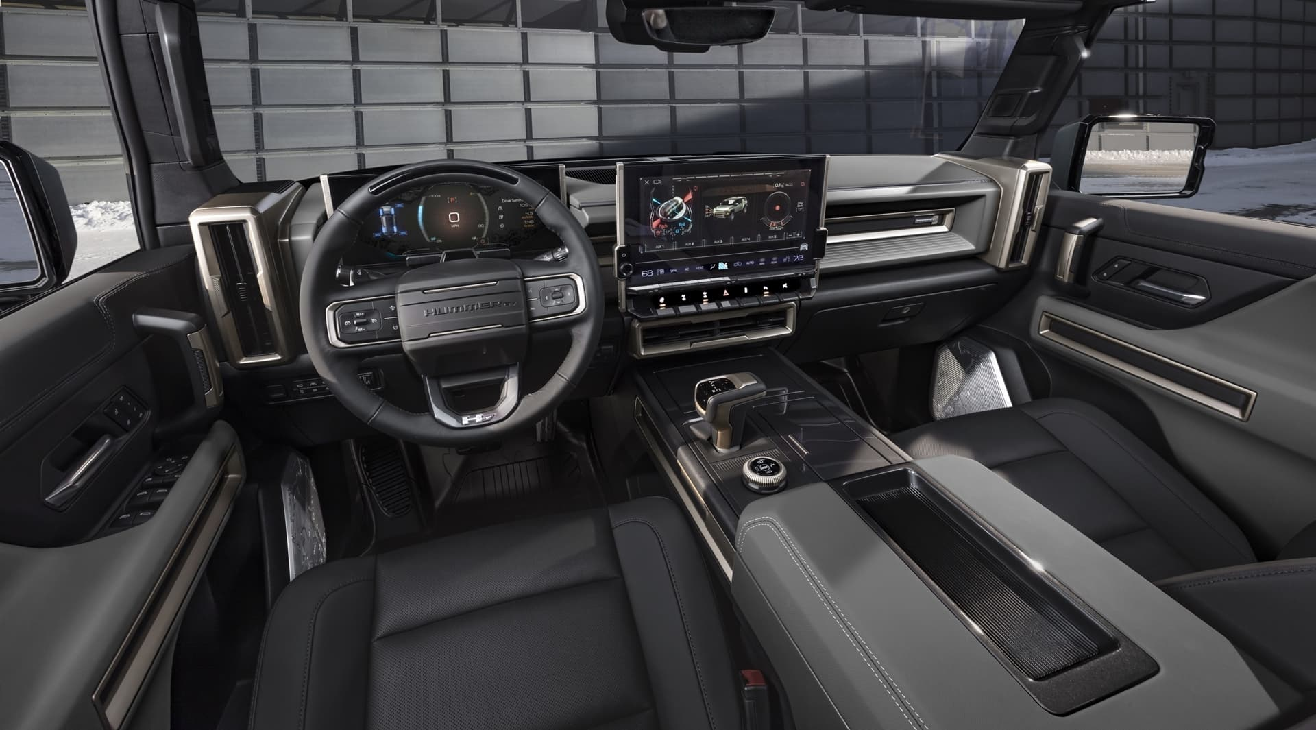 The Gmc Hummer Ev Suv Debuts In The Low Contrast Lunar Shadow Interior And Includes A Spacious Cargo Area And An Architecturally Inspired Cabin.