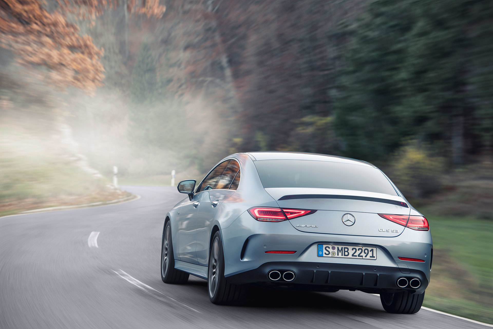 Mercedes Amg Cls 53 4matic 2021 Gris Azul Claro Costa Azul 12
