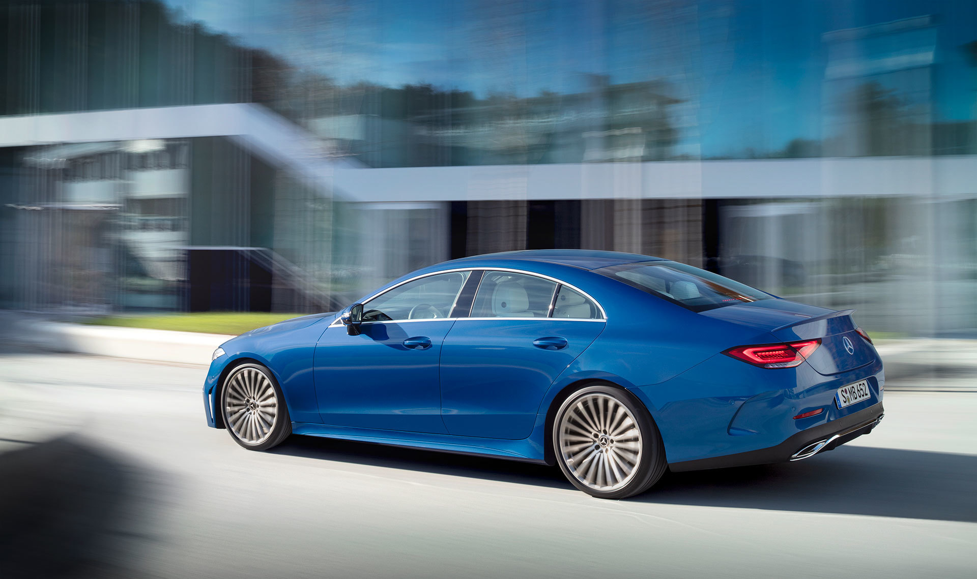 Mercedes Cls Coupe 2021 Azul Amg Line 01