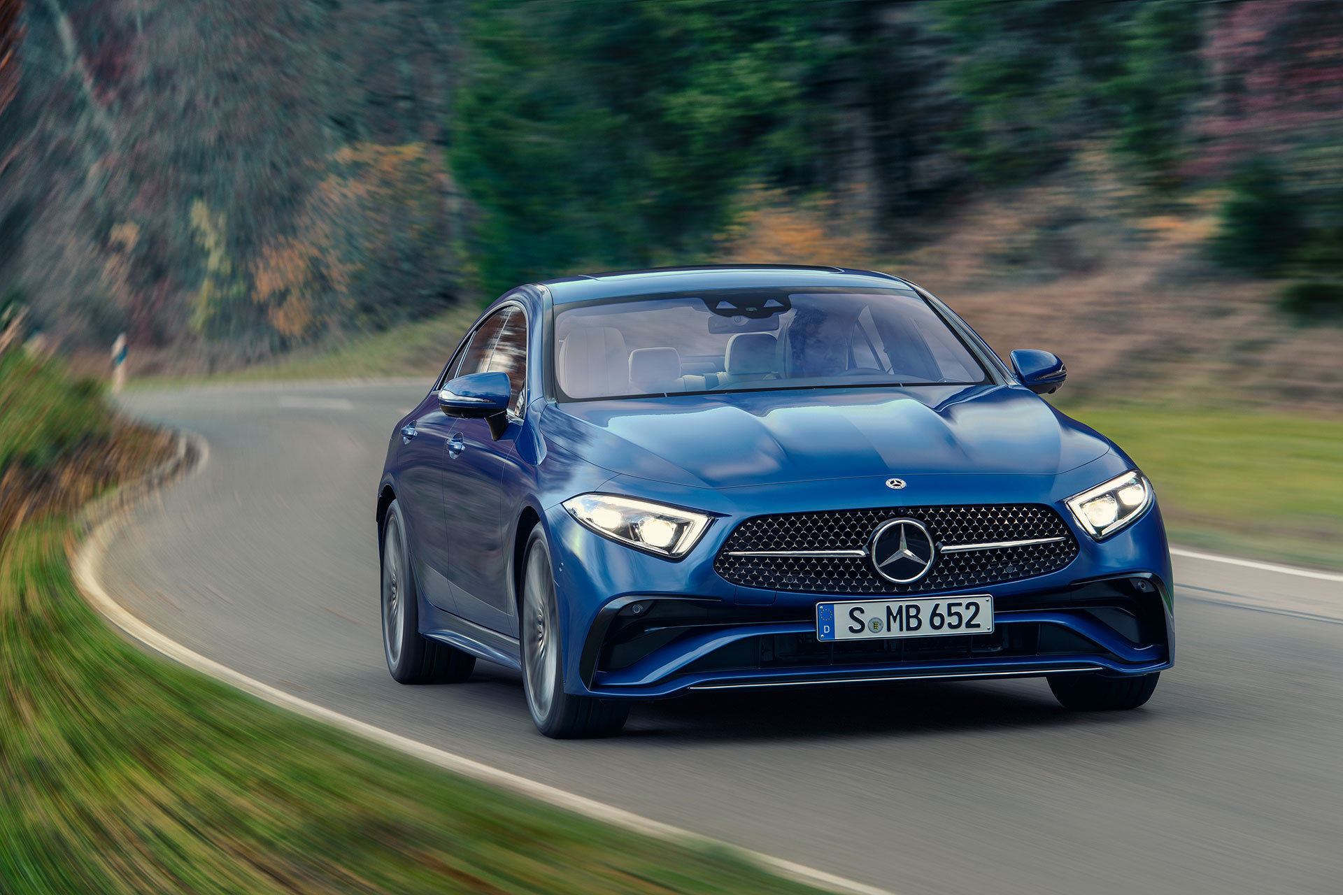 Mercedes Cls Coupe 2021 Azul Amg Line 07
