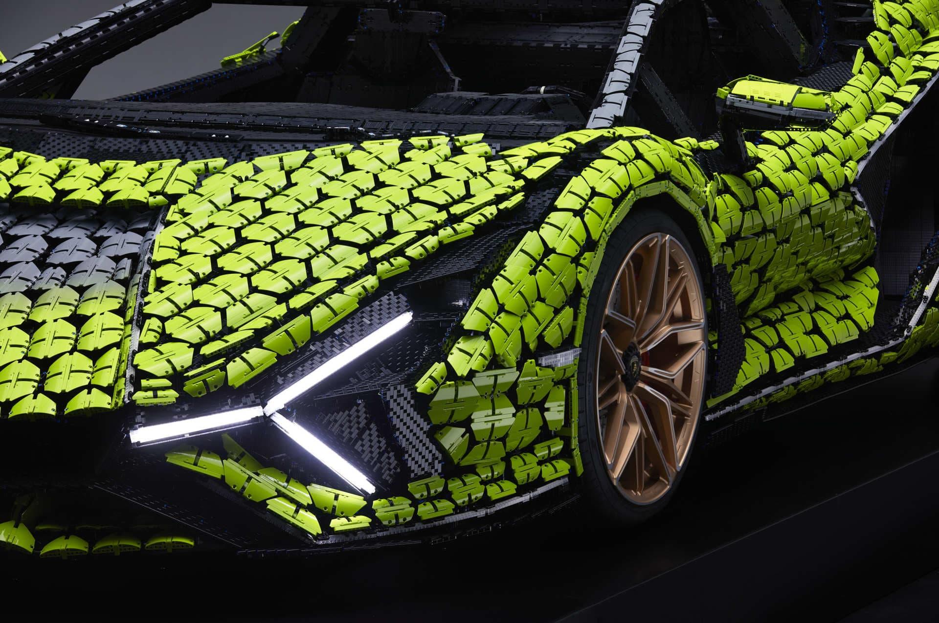 Lego Lamborghini Sian Tamano Real 20
