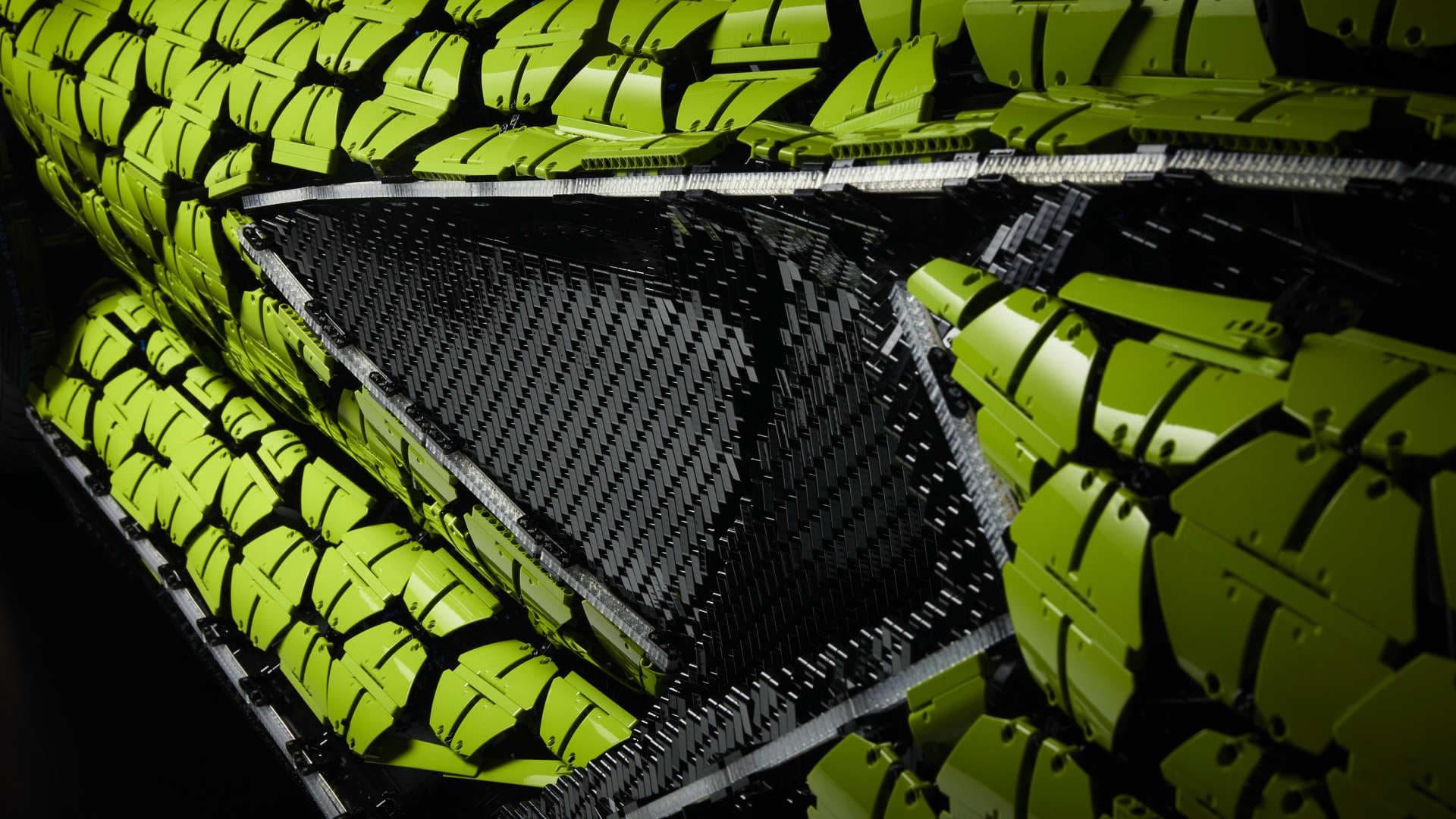 Lego Lamborghini Sian Tamano Real 32