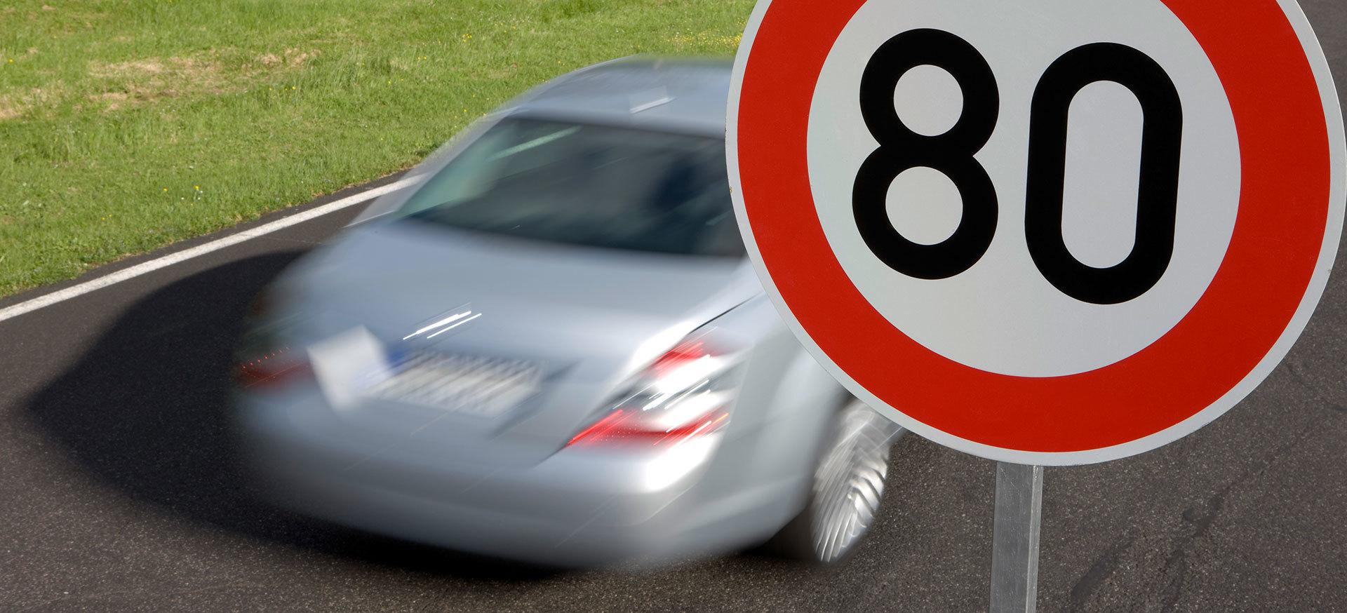 Senal Velocidad Maxima 80 Kmh Dgt