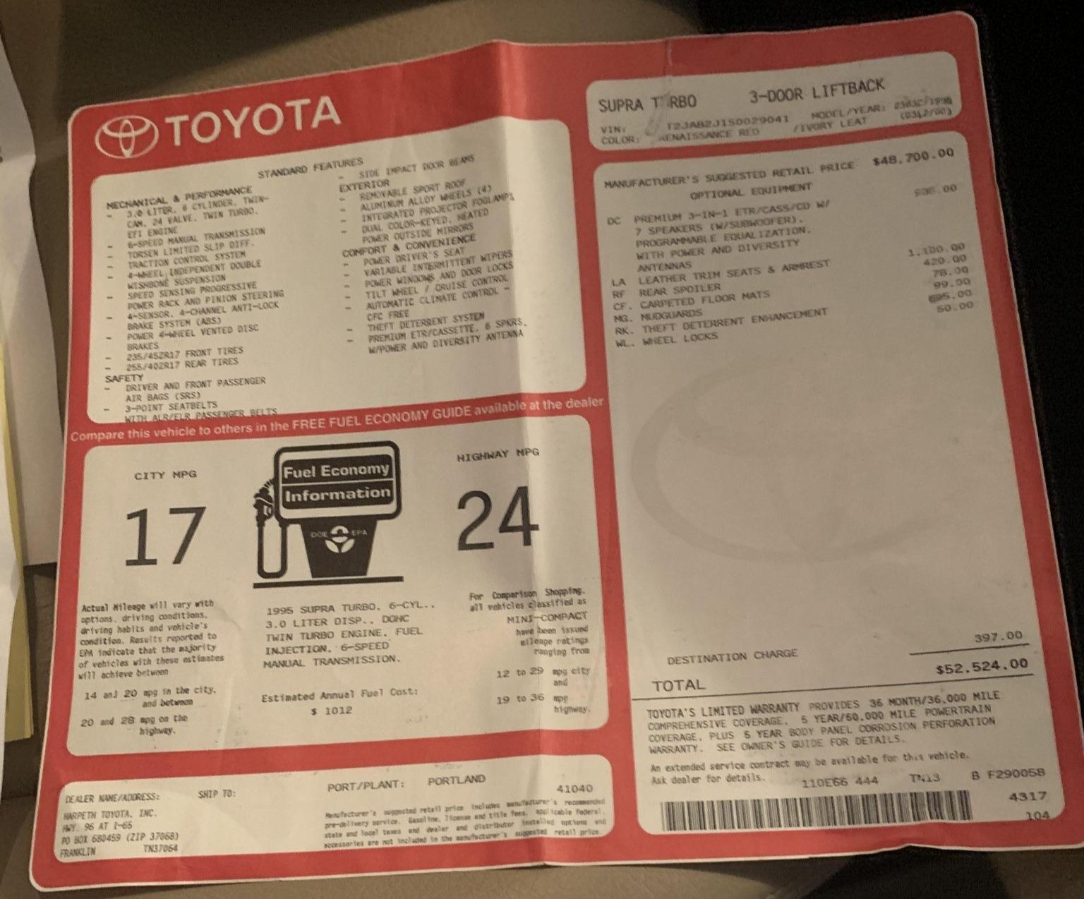 Toyota Supra Subasta 2021 9