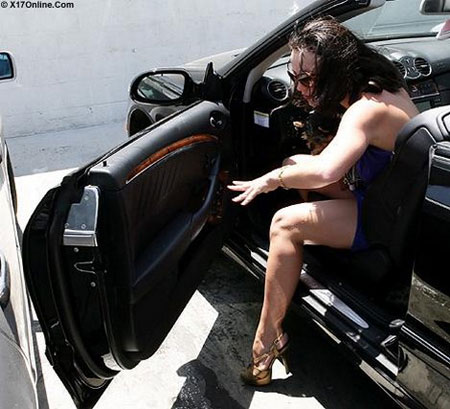 Britney Spears chocando con otro coche
